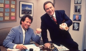 Garry Shandling and Rip Torn in The Larry Sanders Show.