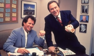 Rip Torn, right, with Garry Shandling in The Larry Sanders Show, 1995.