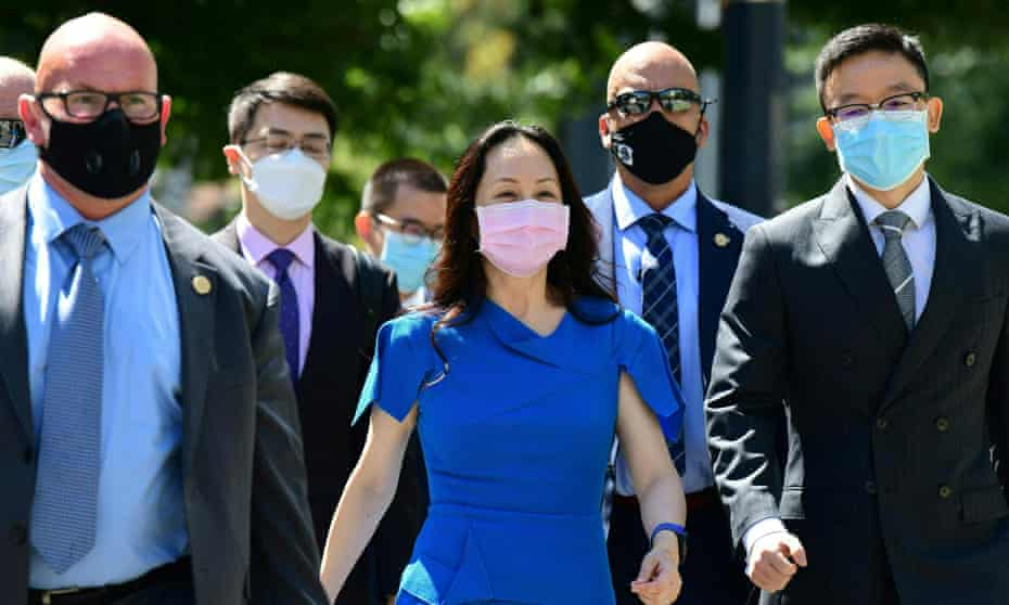 Meng Wanzhou in Vancouver last week. An initial judgement on Meng's extradition case is expected in the fall, but the appeals process could take years.