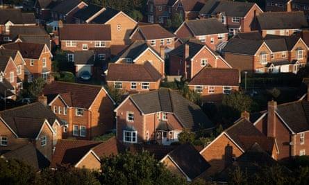 A housing estate in Glastonbury