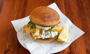 Crab chip butty