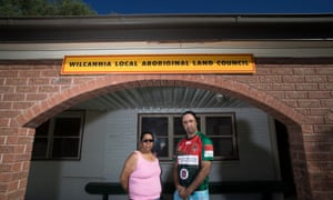 Kerry King, a Wilcannia Aboriginal Land Council board member and Barkindji elder, with Michael Kennedy, the land council's chairman