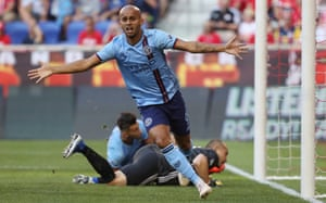 Héber scores anther goal for new club New York City FC.