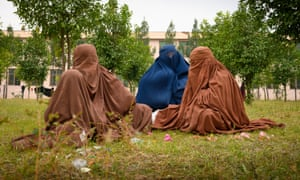 Wives and mothers of Isis fighters who have surrendered to the Afghan government.