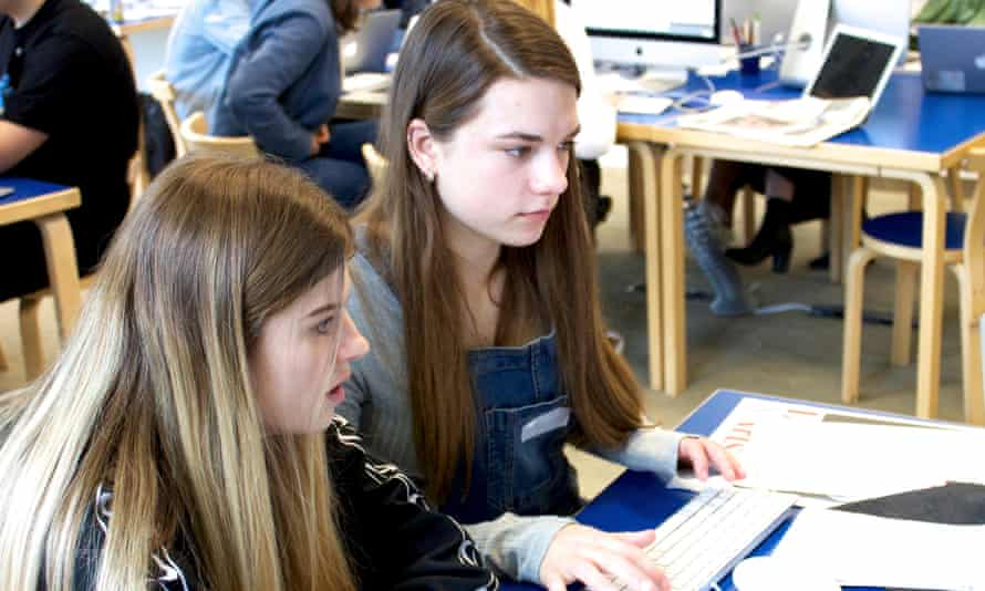 Students in the Guardian Education Centre