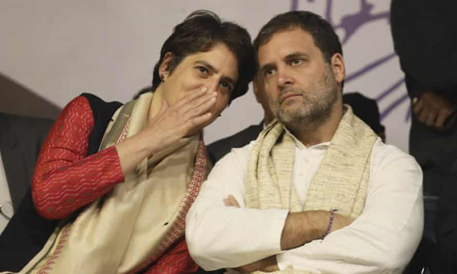 Rahul and Priyanka Gandhi arrested on way to meet Indian rape victim's family   India   The Guardian