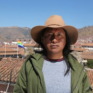 "Actor David Ancca has been playing the Sapa Inca at the Inti Raymi festival in Cusco for the last three years. He feels proud to speak his native language Quechua and rehearses every day so that ""the Inca is portrayed in his full glory,"" he says."