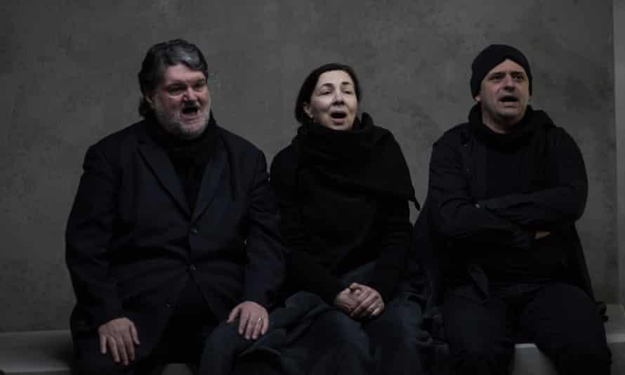 Vangelis Kotsos, Nota Kaltsouni and Nikos Menoudakis in An Occupation of Loss.