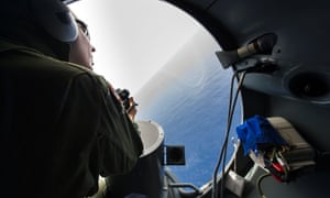 A French soldier during searches for debris from the crashed EgyptAir flight MS804 over the Mediterranean last month