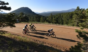A quarter of the Haute Route Rockies was raced on dirt roads.