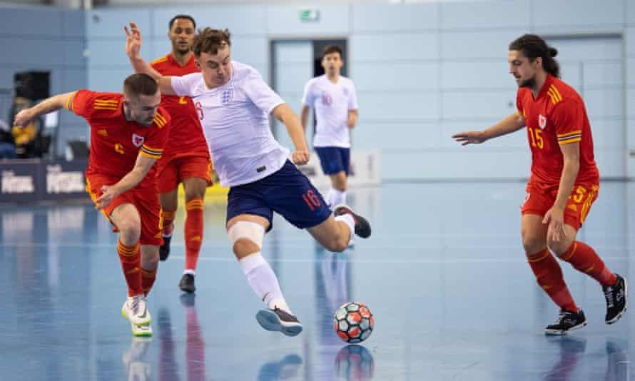 England v Wales futsal match