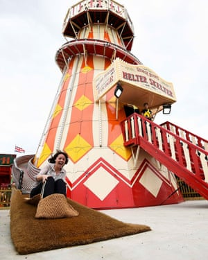The helter skelter at the newly reopened Dreamland in Margate.