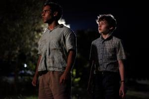 Aaron L. McGrath and Levi Miller in Jasper Jones.