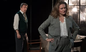 Michael Brandon and Amy Burke in Other People's Money.
