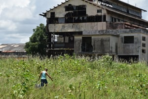 Part of the abandoned sugar refinery in the Cuban town of Hershey.