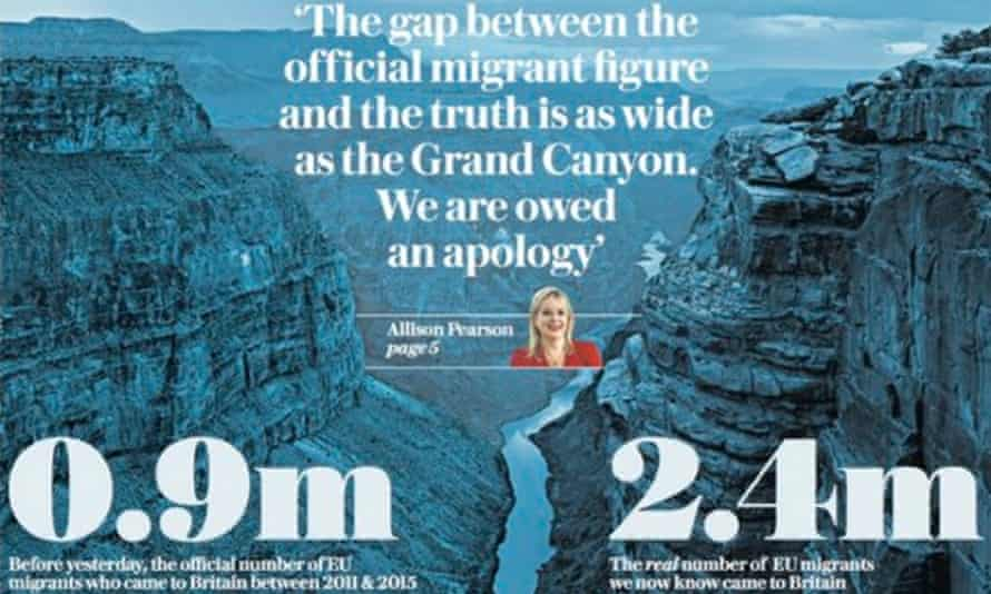 A Daily Telegraph front page that features in the InFacts dossier.