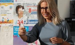 Anti-corruption campaigner Lyubov Sobol on polling day.