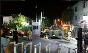 Tanks and soldiers have been seen on the streets of Istanbul and Ankara