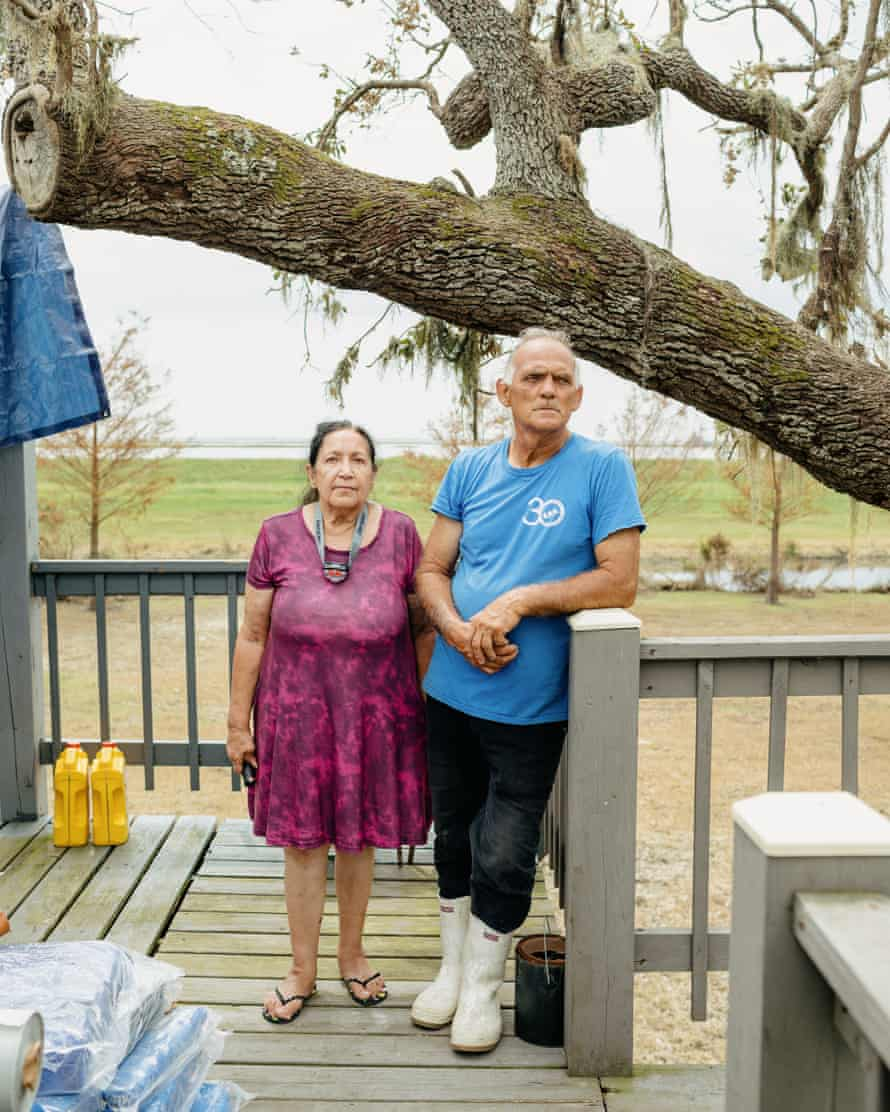 Teresa and Donald Dardar at the Pointe-au-Chien Indian Tribal Center.