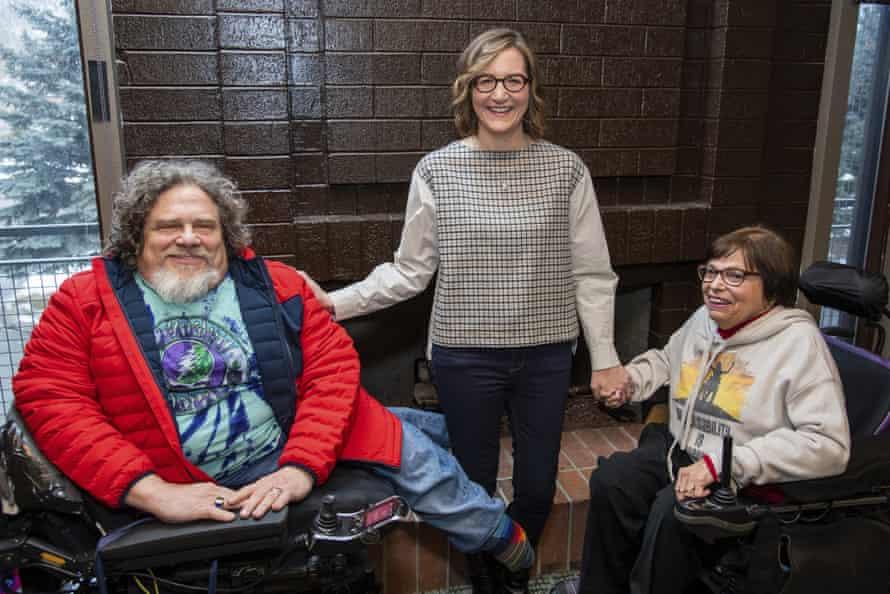 Jim LeBrecht, Nicole Newnham and Judy Heumann at Sundance 2020