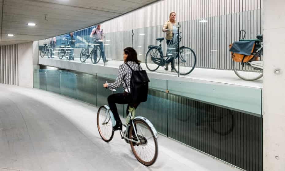 Utrecht's new station parking for cyclists.