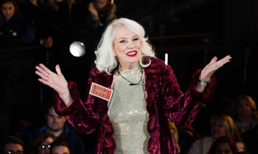 Angie Bowie enters the Celebrity Big Brother house.