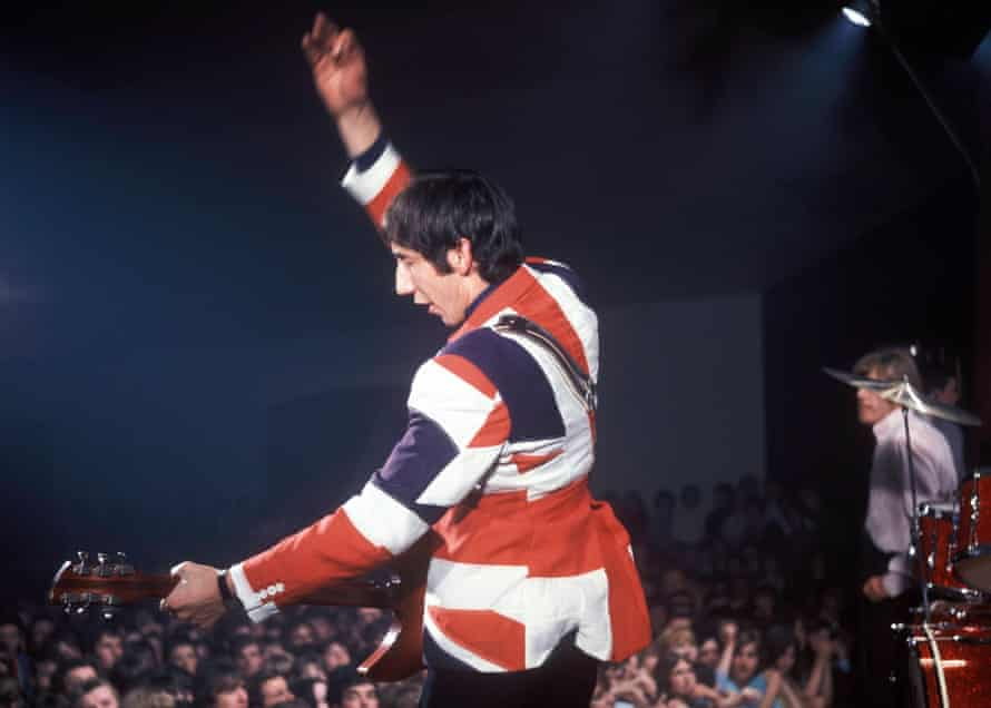 Pete Townshend performing with the Who.