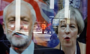 Labour leader Jeremy Corbyn and the Conservative prime minister Theresa May.