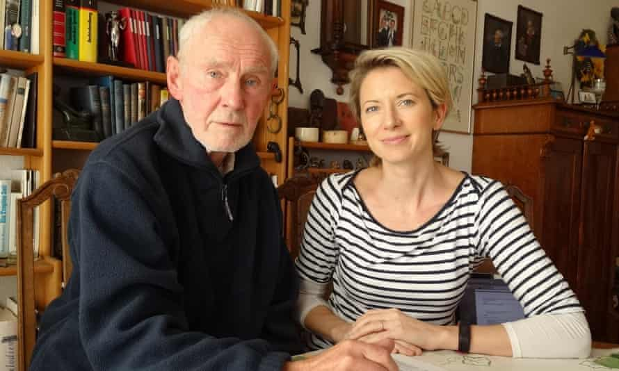 She has burrowed her way deep into interviews, news reports and Stasi files: Helena Merriman with digger Joachim Rudolph.