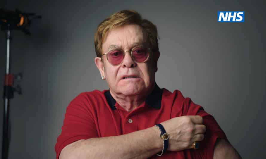 Sir Elton John in an NHS England video encouraging people to get vaccinated against coronavirus