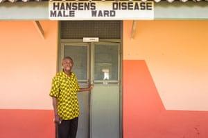 Kofi Nyarko outside Ankaful leprosy hospital