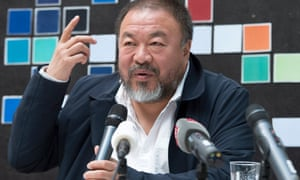 Hooked on celebrity? … Ai Weiwei at a press conference this week.
