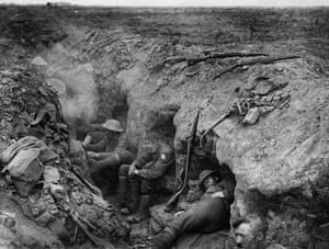 Welsh Guards at Guillemont, early September, during the Battle of the Somme.