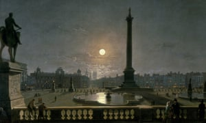 Trafalgar Square by Moonlight, c1865, by Henry Pether.