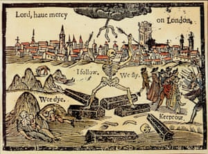 The title artwork from a 17th century pamphlet on the effects of the plague on London.