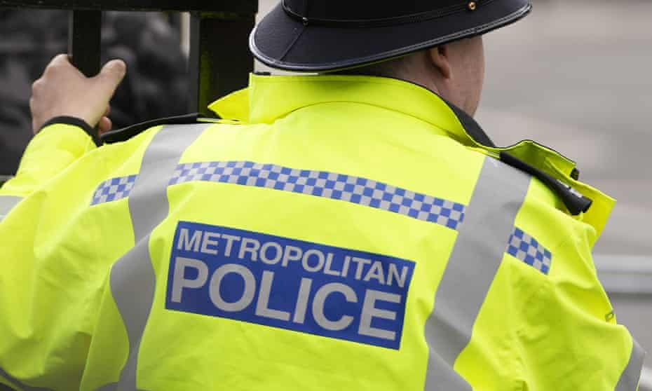 A view of a Metropolitan police officer on patrol