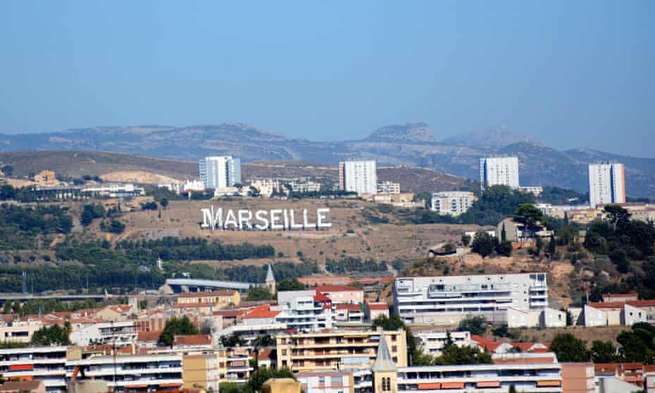 Netflix gave a Hollywood-style sign to the city to promote its TV series, Marseilles, starring Gérard Depardieu.
