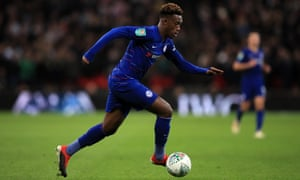 Callum Hudson-Odoi of Chelsea, subject of a scrap between Bayern and PSG, apparently.