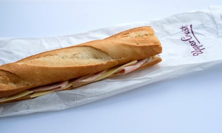 Ham and Cheese Baguette at Upper Crust