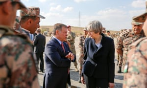 Theresa May meets Jordan's King Abdullah on the first leg of her Gulf trip