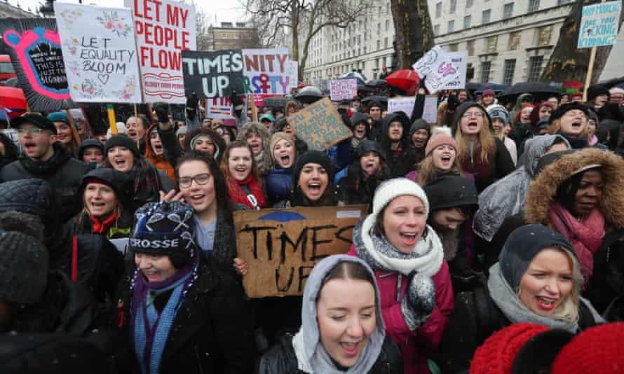 A Women's March in London in January