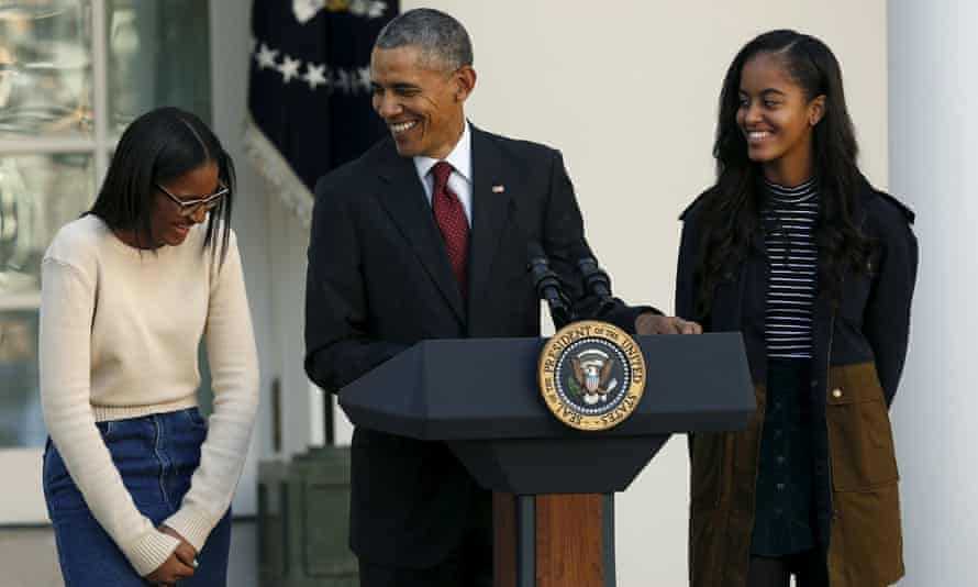 Barack Obama Sasha Malia