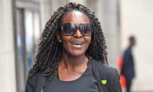 Fiona Onasanya arrives at the Old Bailey