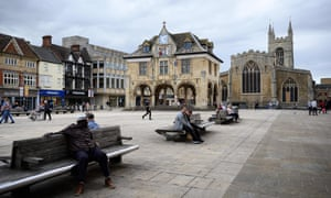 Cathedral Square in Peterborough city centre