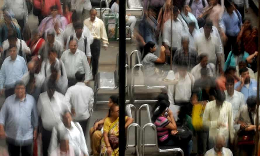 Crowded train station in India on the eve of World Population Day 2012