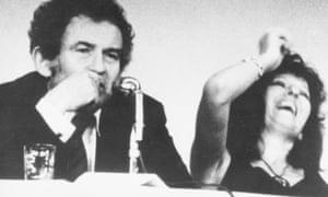 No laughing matter … Norman Mailer and Germaine Greer debating
