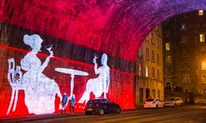An artwork in Edinburgh, which was designated the first Unesco City of Literature in 2004.