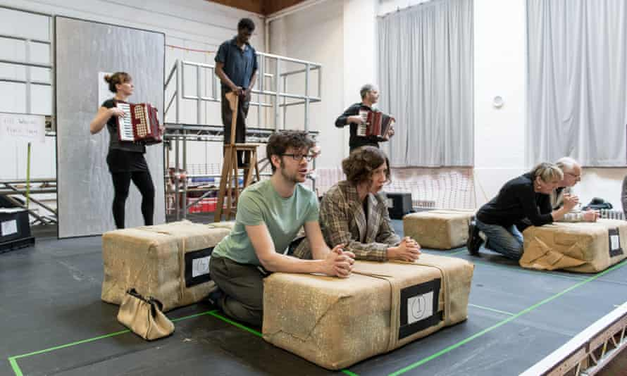 'A brutal comedy with songs' … I Am Thomas in rehearsal.