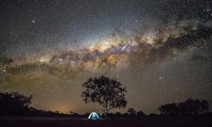 Camping under the stars in Australia. Space junk is also contributing to light pollution.