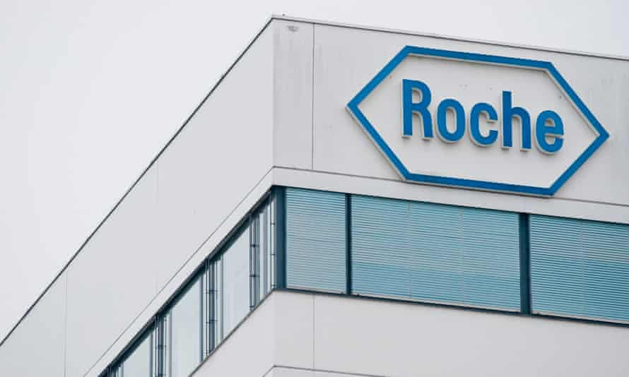 The Roche building is seen in Basel, Switzerland